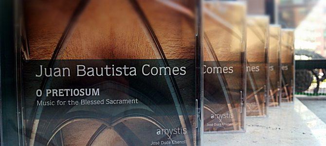Nuevo CD con obras de Juan Bautista Comes